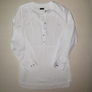 Talbots white    half button shirt